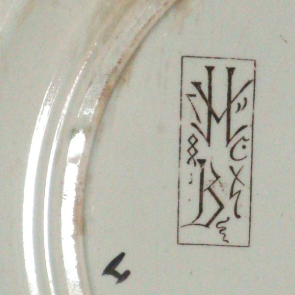 Aesthetic Movement plate attributed to Felix Bracquemond (gm031)