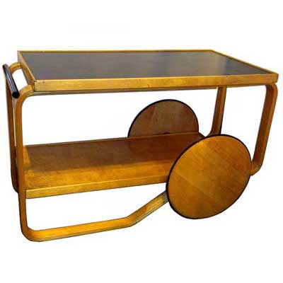 Alvar Aalto bentwood tea trolley for Finmar (f523a)