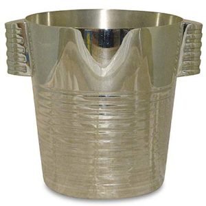 Art Deco Modernist Ondulations  ice bucket by Luc Lanel for Christofle (gm660)