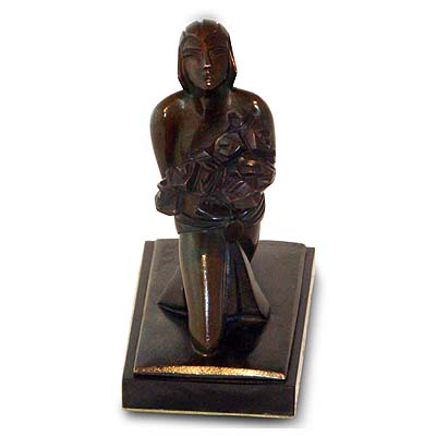 Art Deco Modernist bronze of a Ballet Russe dancer by Sibylle May (gm441)