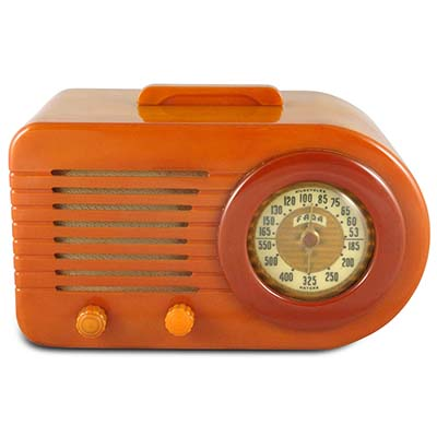 Art Deco Streamline catalin Fada 1000 Bullet radio (gm925)