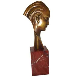 Art Deco bronze and marbel bust by Guido Cacciapuotti (B72A)