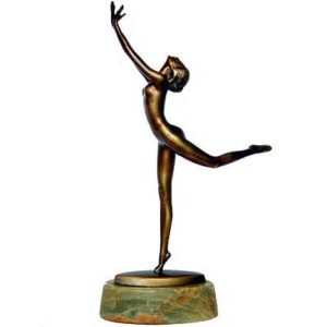 Art Deco bronze dancer by Joseph Lorenzl
