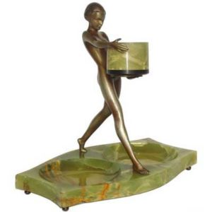 Art Deco bronze figure by Josph Lorenzl
