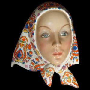 Art Deco ceramic mask by Helen Konig Scavini for Lenci (gm213)