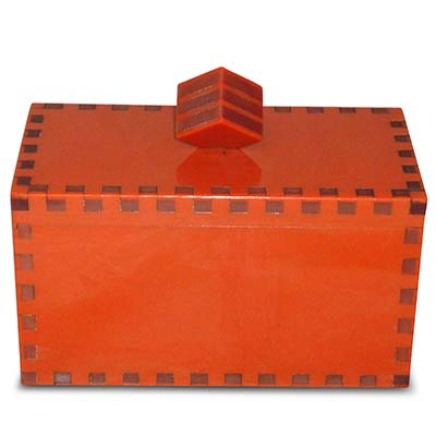Art Deco dovetailed acrylic Modernist box (gm665)