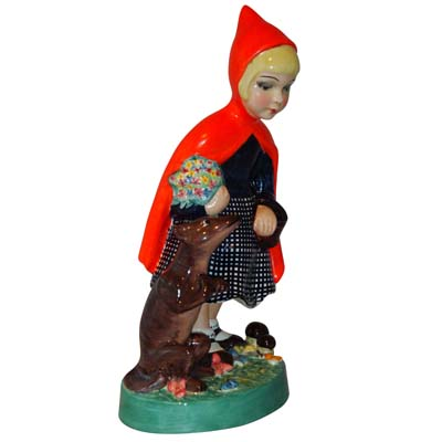 Art Deco figure of Little Red Riding Hood by IGNI of Torino (gm458)