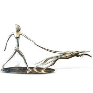 Art Deco figure of a woman walking dogs by Hagenauer (gm422)