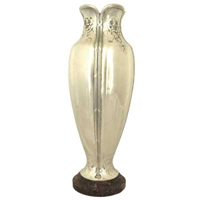 Art Deco pewter and marble vase by Christofle (gm053)