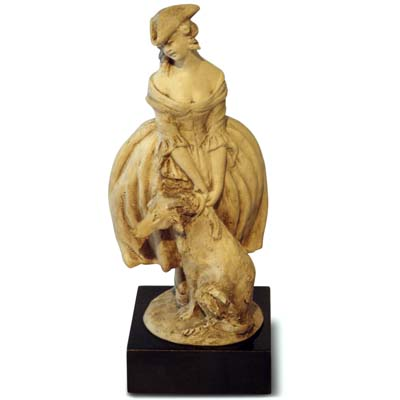 Art Deco pottery figure of a Venetian lady by Guido Cacciapuotti (gm444)