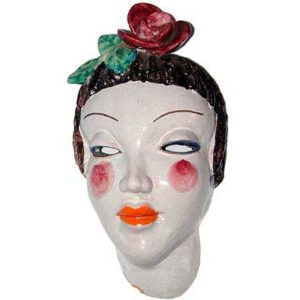 Art Deco pottery wall mask by Walter Bosse