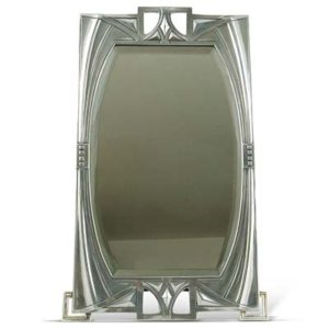 Art Nouveau Secessionist pewter table mirror by WMF (gm916a)