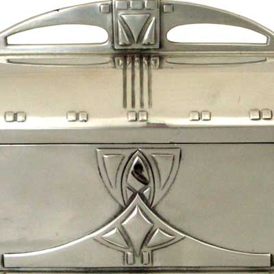 Art Nouveau Secessionist silvered pewter box by WMF (gm063)