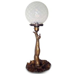Art Deco bronze cabaret girls leg lamp from Le Bal Tabarin (gm471)