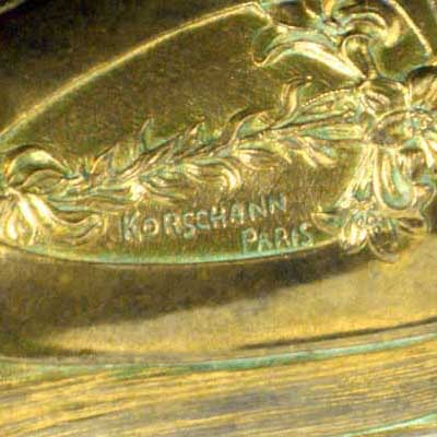 Art Nouveau bronze vase by Charles Korschann (b77)