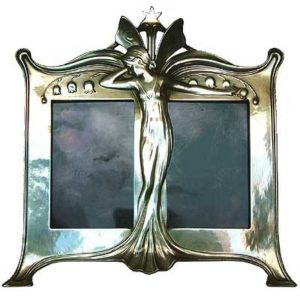 Art Nouveau pewter fairy photo frame by WMF