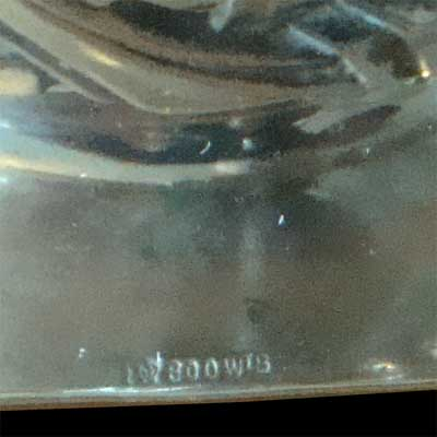 Art Nouveau silver and etched glass bowl (M527)