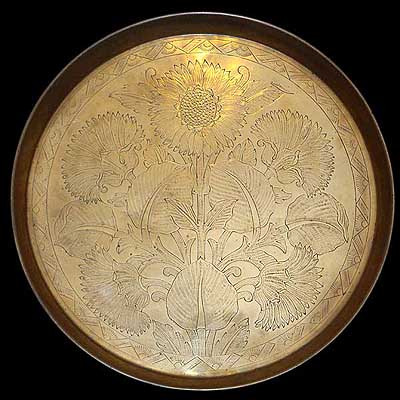 Arts & Crafts Benham & Froud charger by Christopher Dresser  (m472)