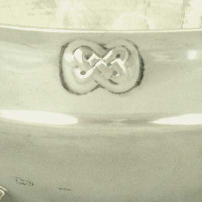 Arts & Crafts Cymric silver bowl designed by Archibald Knox for Liberty & Co (gm073)