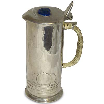 Arts & Crafts Tudric pewter and enamel ewer by Archibald Knox for Liberty & Co (gm568)