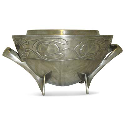 Arts & Crafts Tudric pewter rose bowl by Archibald Knox for Liberty & Co (gm771)