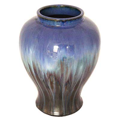 Arts & Crafts large Fulper flambe drip glaze vase, USA c1920(gm172)