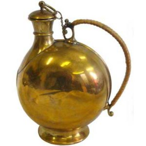 Benham and Froud brass flask by Christopher Dresser (m32)