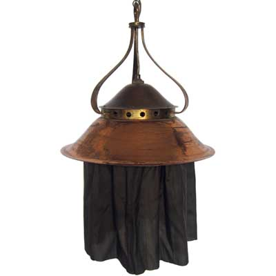 Birmingham Guild of Handicrafts brass and copper ceiling light
