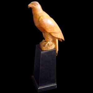 Carved wood eagle by Louis Sosson (b79)