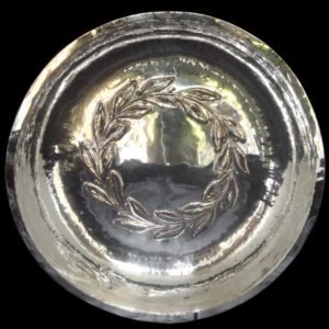 Duchess of Sutherland Cripples Guild silvered copper bowl (gm209)
