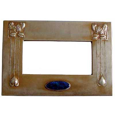 Glasgow School Arts & Crafts tin and enamel mirror