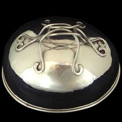 Guild of Handicrafts silver plate meat dish cover by CR Ashbee (gm093)