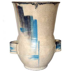 Pottery vase attributed to Margarethe Heymann Marks for Haelstatte Werkstatten (gm046)