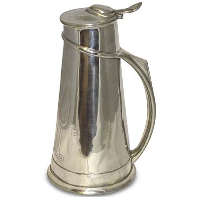 Large Arts & Crafts Tudric pewter flagon attributed to CFA Voysey and made for Liberty & Co (gm432)
