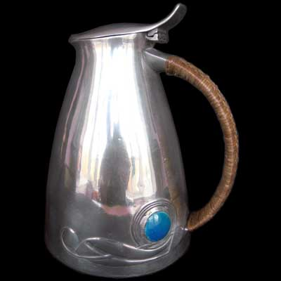 Liberty & Co Tudric pewter and enamel ewer by Archibald Knox