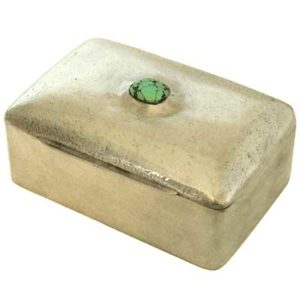 Liberty & Co Tudric pewter box with turquoise cabochon m514a