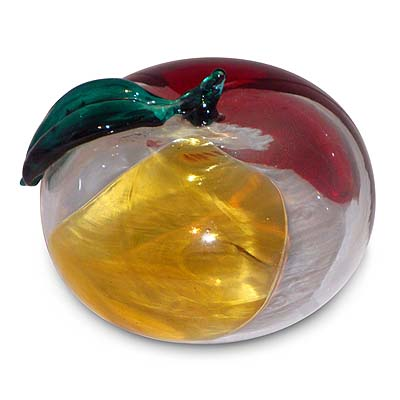 Murano glass con macchia apple by Fulvio Bianconi for Venini (gm492)