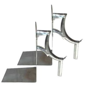 Pair of Art Deco Modernist chrome bookends by Hagenauer gm106