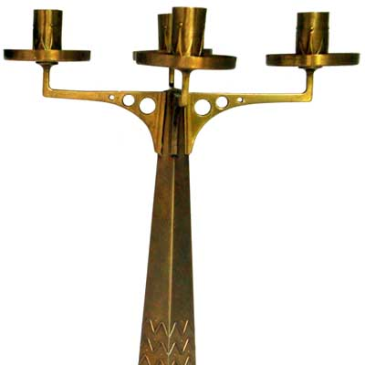 Pair of Art Nouveau candelabra attributed to the Vereinigte Werkstatten, Munich (gm94)