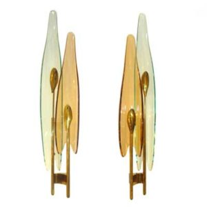 Pair of wall lights by Max Ingrand for Fontana Arte (L365)