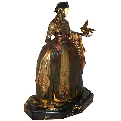 Piazza San Marco   Art Deco bronze and ivory by Armand Godard (gm360)