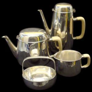 Robert Welch Sterling silver tea set (m327)