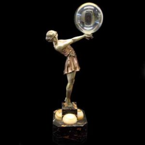 The Bubble Dancer   Art Deco bronze by A Godard (b76)