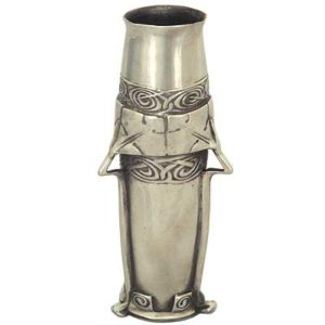 Tudric pewter Arts & Crafts vase by Archibald Knox for Liberty & Co (gm035)