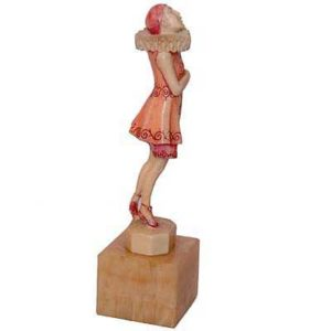 b34b - Art Deco Ivory Figure