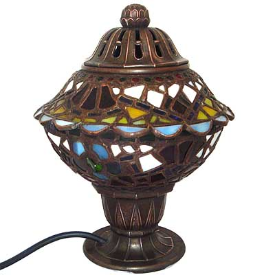 Art Deco leaded glass table lamp (gm070)