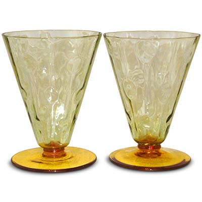 Selection of Secessionist Meteor glasses designed by Koloman