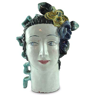 Wiener Werkstatte pottery head by Lotte Calm (gm787)